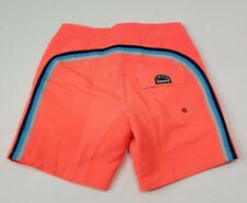 "Sundek Classic Low Rise 17"" Swim Trunks Board Shorts Fluoride Orange Size 30 New"