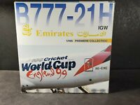 Dragon Wings B777-21H Emirates 1999 England Cricket World Cup Plane 1:400 Model
