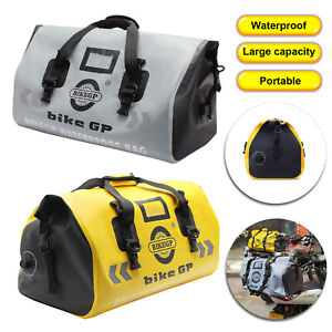 Waterproof Cylinder Duffel Bag Motorcycle Rear Travel  Dry Bag Outdoor Adventure
