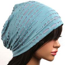ab03f98b0c4 Unisex chic Summer BEANIE men women slouchy top Hats skull Cap New gm2 azure