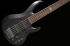 ESP LTD B335 5 String Bass Guitar Satin Stained Black no case