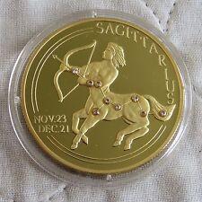 Liberia 2002 Sagittaire $20 Diamant Clous plaqué or .999 Fine Silver Proof