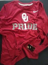 "New - Oklahoma Sooners ""#1 Pr1de"" Crimson Youth L/S T Size YL Nike MSRP $24"