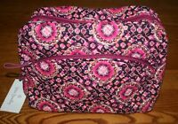 Vera Bradley ICONIC LARGE COSMETIC BAG RASPBERRY MEDALLION case makeup pink