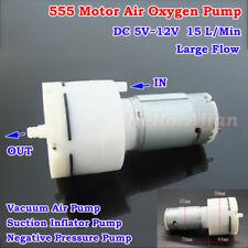 DC5V-12V Large Flow 555 Motor Air Oxygen Pump Vacuum Pump Negative Pressure Pump