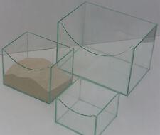 Nager Badehaus Sandbad aus Glas Maus Rennmaus Hamster Chinchilla 20x15x15