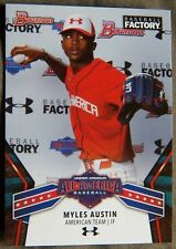 Myles Austin 2018 Bowman Baseball Factory Under Armour All-American Card
