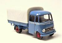 H0 BREKINA Starmada Mercedes Benz LP 319 Transporter Pritsche Plane blau # 13552