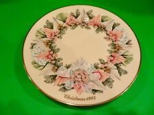 Lenox China Colonial Christmas Wreath Plate 1993 Georgia The 13th Colonial