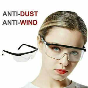 Motorcycle Safety Goggles Glasses Eye Protection Work Anti-Fog Lab Splash