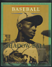 Negro League Shadow Ball baseball book with 20 signatures many deceased