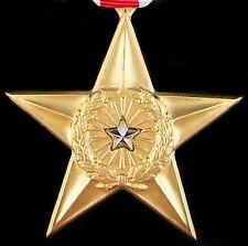 ORIGINAL U.S. SILVER STAR MEDAL ORDER AWARDED FOR GALLANTRY / BRAVERY       -01
