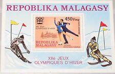MADAGASCAR MALAGASY 1975 A Block 9 A S/S C151 Winter Olympics 1976 Innsbruck MNH