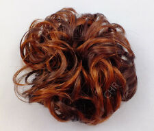 "Ponytail Extension 3"" Scrunchie Synthetic Wrap Elastic 33/130 Dk Auburn Fox Red"