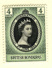 BRITISH HONDURAS 1953 CORONATION MNH