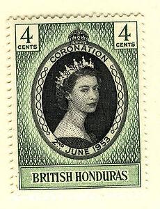 BRITISH HONDURAS 1953 CORONATION  MNH