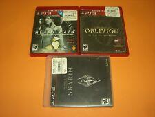 Elder Scrolls IV Oblivion GOTY, V Skyrim & Heavy Rain in CIB Complete GREAT PS3!