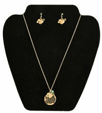 Bless Your Heart Necklace Earring Set Gold