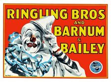 Ringling Bros. Circus Clown Poster Large 24inx36in