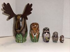 Nesting Woodland Animals; Set Of 5; Hand-Painted; by Bits and Pieces