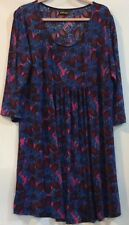 2f959735f61 New Reborn 3XL Purple Blue Stretch Knee Length Empire Dress 3/4 Sleeve