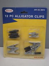 (12-Piece) Assorted Electrical Alligator Clips / Clamps