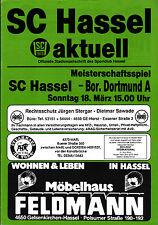 Oberliga Westfalen 1989/90 SC Hassel - Borussia Dortmund (Amateure), 18.03.1990
