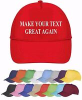 Make Your Text Great Again Trump Personalised Baseball Cap Custom Printed Hat