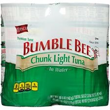 Bumble Bee Chunk Light Tuna in Water 5oz pack of 10 Packaged Tuna Fish, New