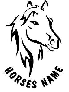 "2 x 22"" (HORSE OUTLINE) FIT HORSE TRAILER, VAN CAR DECALS VINYL GRAPHICS STICKER"