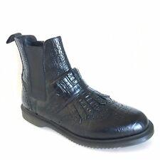 Dr Martens Womens Tina croc Black Leather Chelsea Boots Size 11 Doc Marten Boots