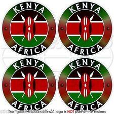 """KENYA Kenyan AFRICA African Vinyl Bumper-Helmet Stickers, Decals 2"""" (50mm) x4"""