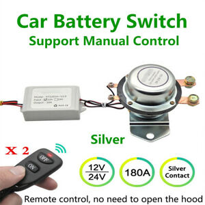 Car Battery Isolator Cut Off Power Kill Anti-theft Remote Manual Control Switch