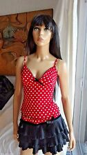 So Sexy WHEELS & DOLLBABY red polka dot top and skirt pinup outfit sz 2 small