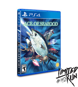 Ace of Seafood + Trading Card PS4 Playstation 4 Limited Run #142 LRG New Sealed