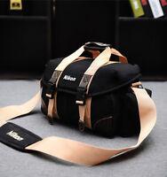 Canvas DSLR Camera Bag Shoulder Messenger Bags for Nikon DSLR D3500 D90 J5 D7200