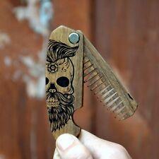 Folding Beard/Moustache Comb - Grooming - Walnut