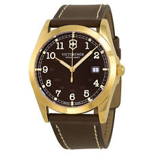 Victorinox Swiss Army Infantry Brown Dial Gold-Tone SS Quartz Men's Watch 241645