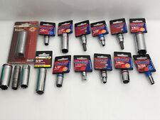 Tool Set Deep Star Bit Spark Plug Sockets Adaptor Duralast & Ace Tools Lot of 16