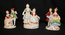 Lot of 3 Porcelain Figurines - Man and Woman - Made in Occupied Japan
