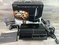 Sony PlayStation PS3 80GB Backwards Compatible CECHE01 Console Bundle Games