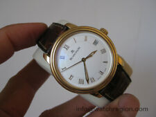 BLANCPAIN 18K SOLID GOLD AUTO DATE LIMITED EDITION 100 HOURS WATCH 36MM SERVICED