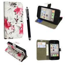 Estuches para Apple iPhone 6 7 8 5S se Plus X Cubierta Billetera + Vidrio Templado Gratis