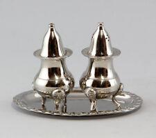 COLOR PLATA streuer-set Sal/pimienta metal niqueladas estilo barroco 9977015