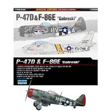 "ACADEMY #12530 1/72 Plastic Model Kit P-47D & F-86E ""Gabreski"""