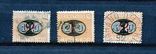 Italy #J25-J27 (IT213) Comp 1890-1891 Surcharged in black, Used, Fine, CV$79.00