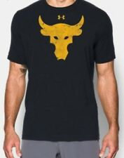 Under Armour X Project Rock Bharma Bull Men's T-shirt Large Black 1344923-001