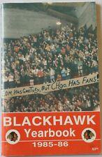 1985-86 Chicago Blackhawks Yearbook Larmer Olczyk Savard Secord Sutter