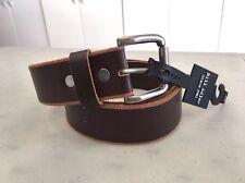 NEW! Nordstrom BILL ADLER Distressed Edge Genuine Leather Belt, Size 34 - Brown
