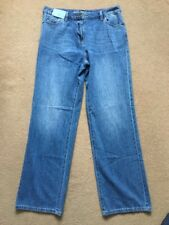 NEXT Women's Mid Rise Wide Leg Faded Light Blue Jeans, Size UK10, L31, £30